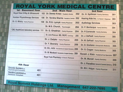 office-directory-sign-north-york
